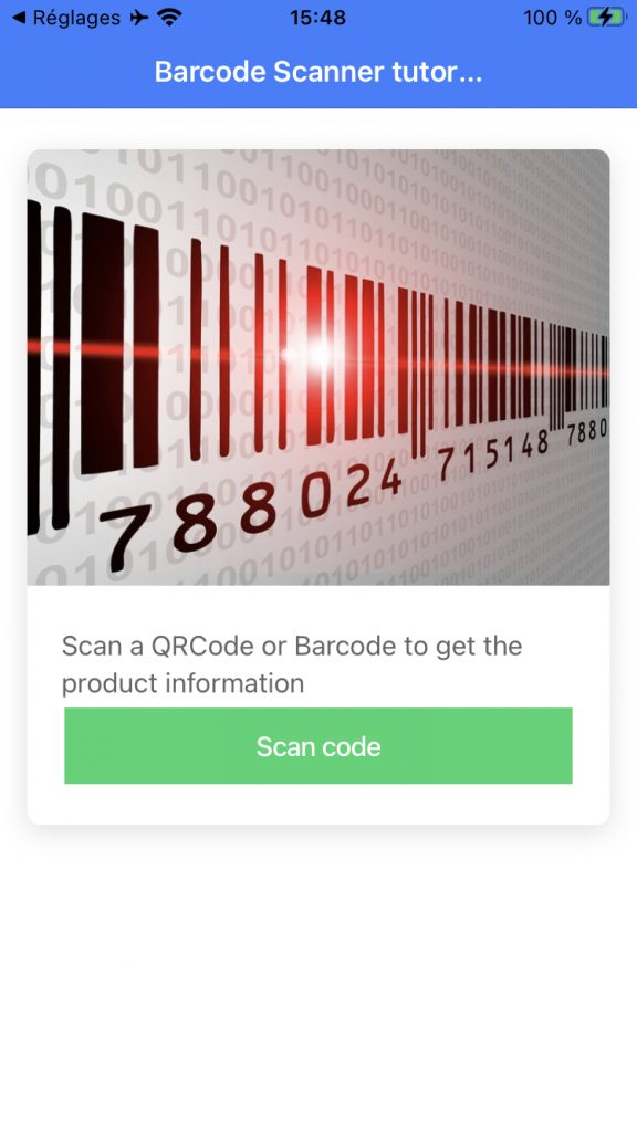 scan barcode with ionic
